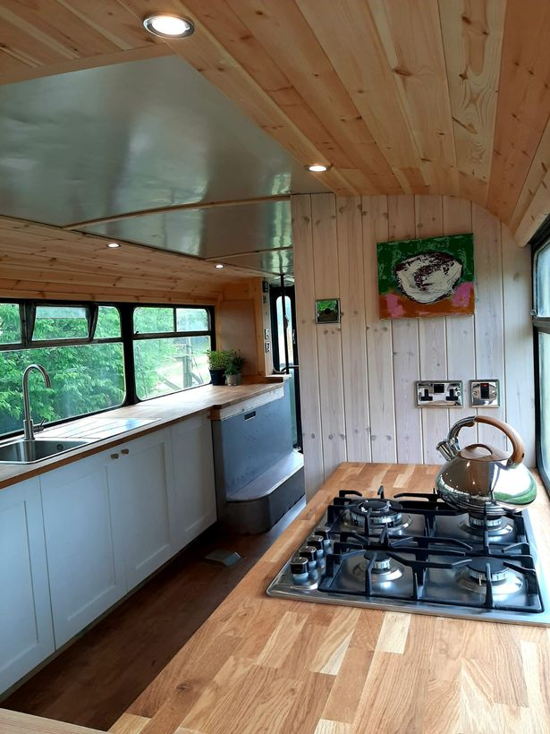 Inside the home-on-wheels