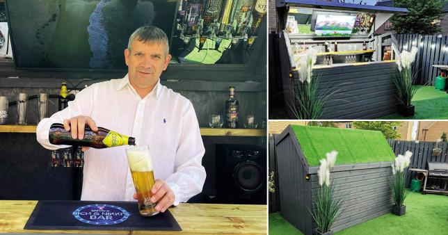 Backyard shed turns into secret bar
