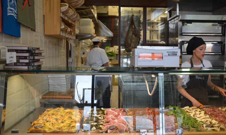 Pizza al taglio at Gabriele Bonci, Rome