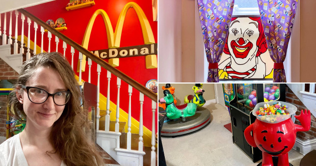 taylor gecking in her mcdonald's house