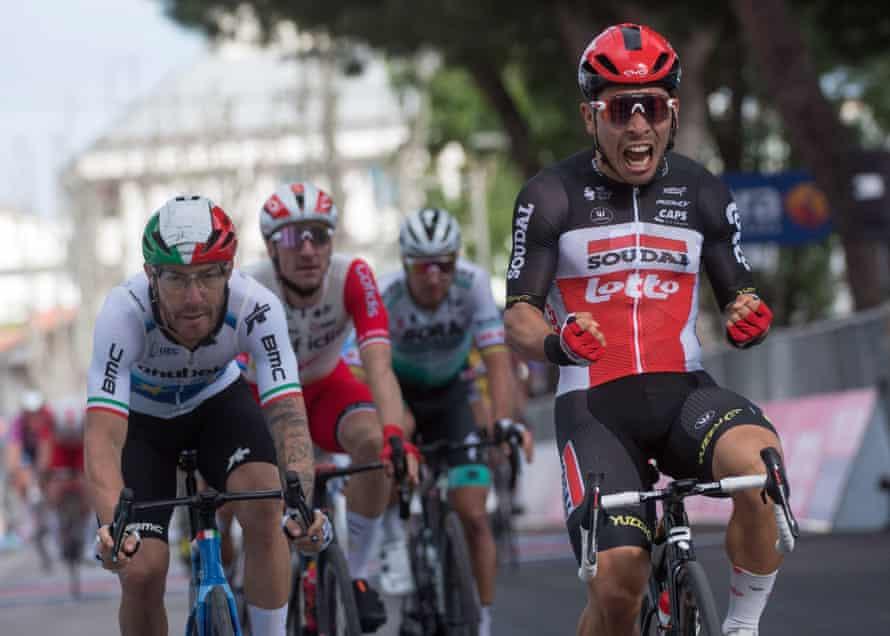 Caleb Ewan wins the stage in Cattolica.