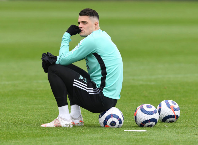 Arsenal midfielder Granit Xhaka is a target for new Roma manager Jose Mourinho