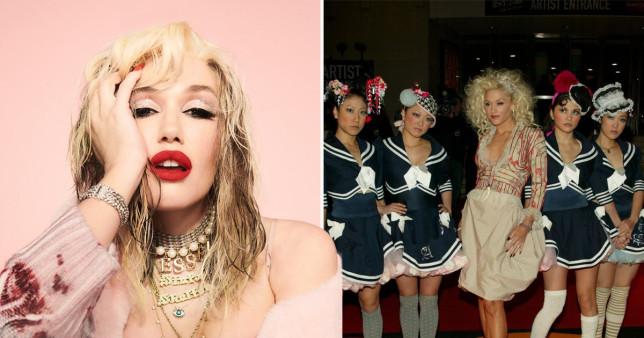 Gwen Stefani and Harajuku Girls.