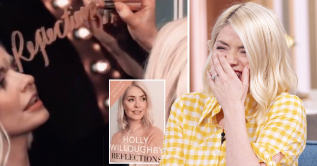 Holly Willoughby with Reflections book cover