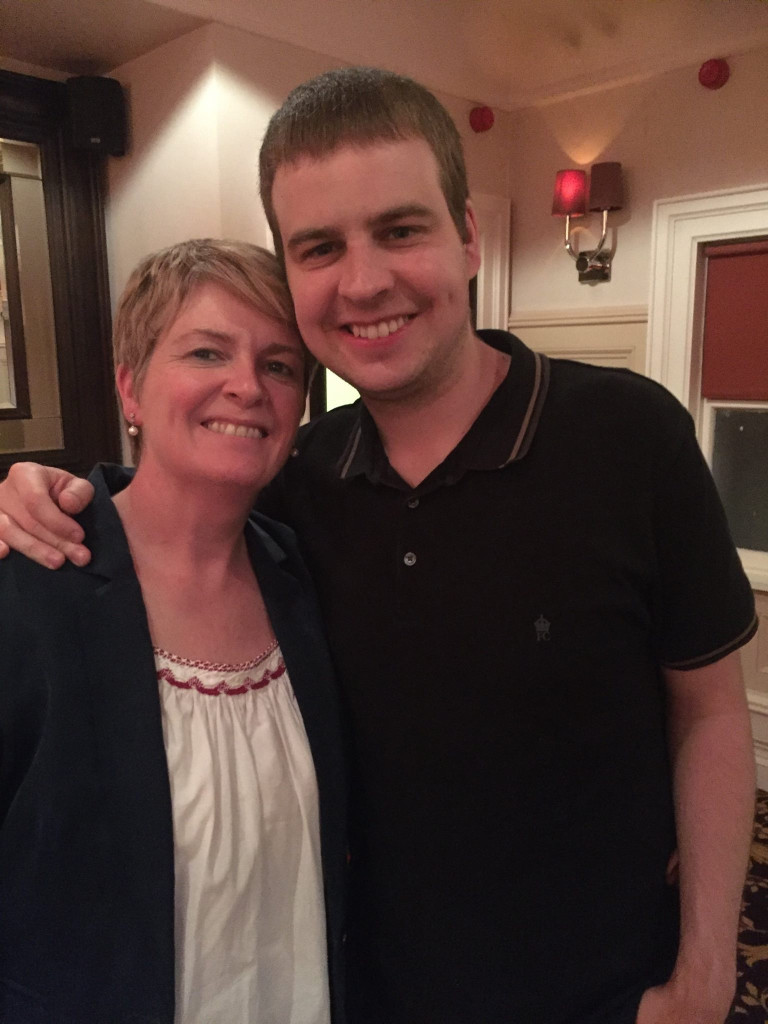Edel Harris with her son Ross