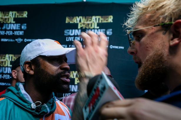 Floyd Mayweather and Jake Paul had a scuffle at the press conference earlier this month