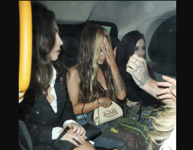 Jesy Nelson looks worse for wear after a night out