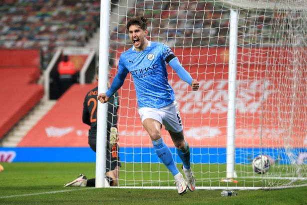 John Stones scored Manchester City's opener at Old Trafford in their Carabao Cup semi-final triumph