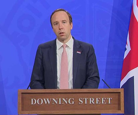 Health Secretary Matt Hancock said today that between half and three quarters of all Covid cases in the UK are now being caused by the Indian variant