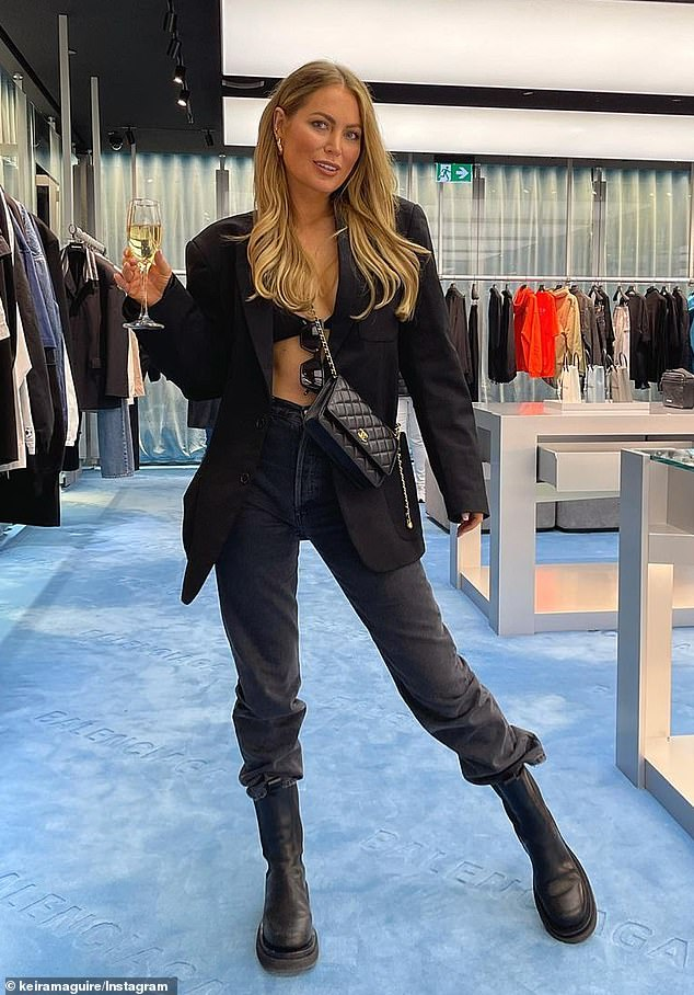 Who's that girl?Keira Maguire, 35, looked worlds away from her days on The Bachelor as she posed for an Instagram photo inside a Balenciaga store on Sunday