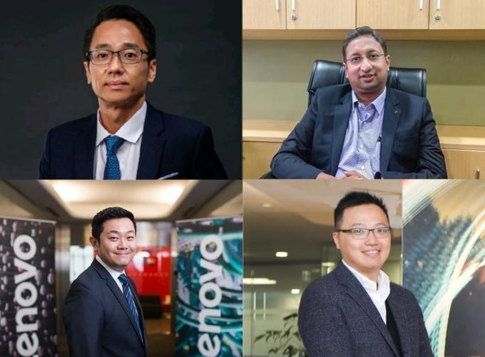 Clockwise from top left: Roy Ng; Prashanth Mani; Eddie Ang; Tony Lee (Lenovo).