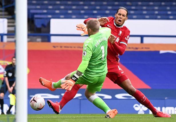 Virgil van Dijk was ruled out for the season after a challenge from Everton goalkeeper Jordan Pickford