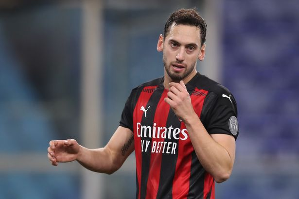 AC Milan's Hakan Calhanoglu has been linked with a move to Anfield