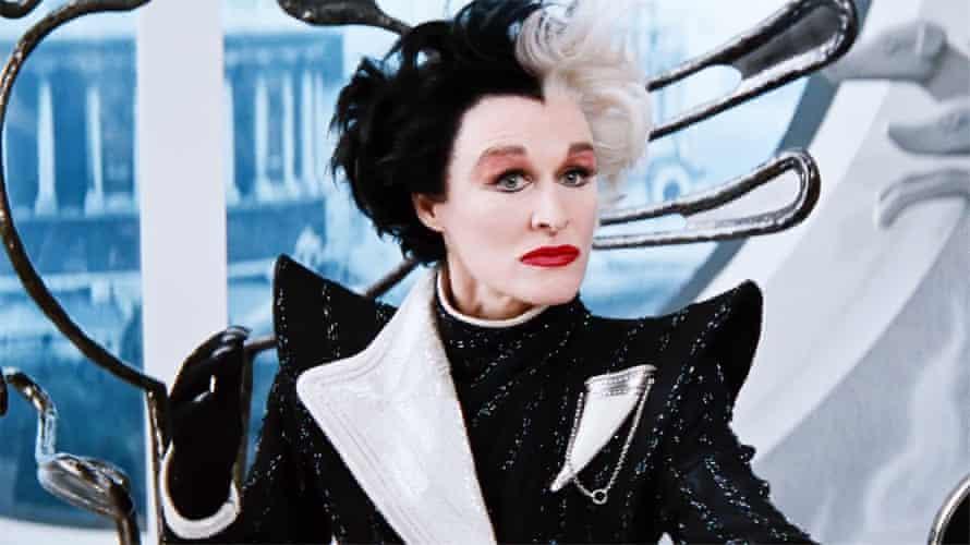 Glenn Close as Cruella de Vil in a scene from the 1996 film 101 Dalmatians.
