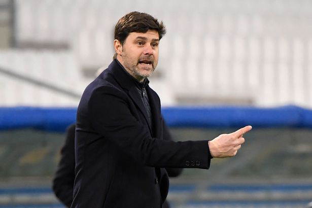 Paris Saint-Germain boss Mauricio Pochettino has been linked with a return to Tottenham Hostpur (Photo by NICOLAS TUCAT / AFP) (Photo by NICOLAS TUCAT/AFP via Getty Images)