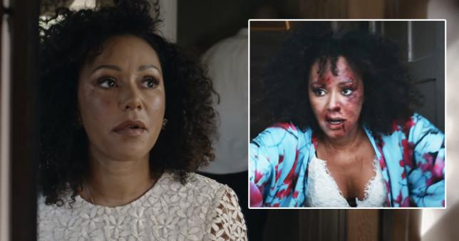 Mel B in domestic violence short film