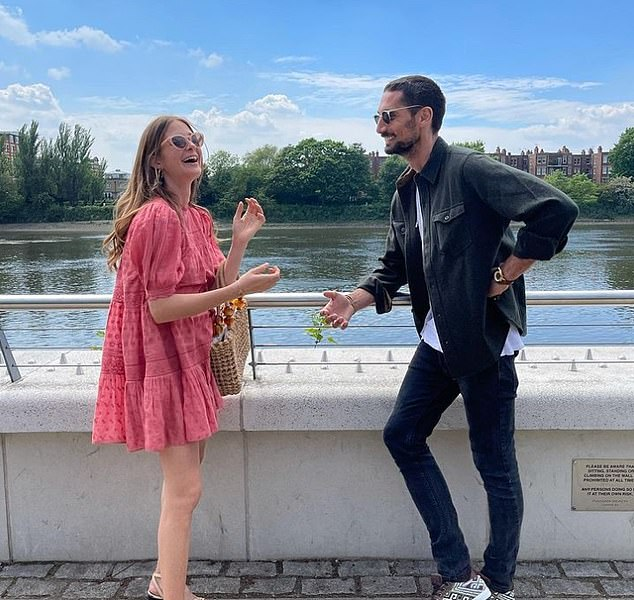 'Having a Deja Vu moment':Millie Mackintosh, 31, and Hugo Taylor, 34, recreated the now-infamous Made In Chelsea scene in which she first accused him of cheating on her