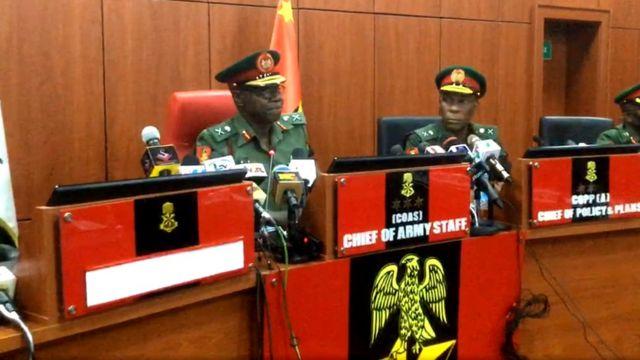 Nigeria Chief of Army Staff give im first address