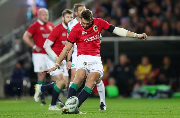 Biggar in Lions action on New Zealand tour in 2017