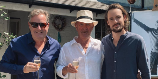 Piers Morgan with dad and son Spencer