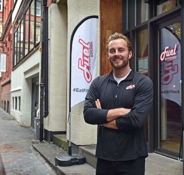 Fuel Shakes Station Liverpool City centre with Kurt Wilson pictured who helps run the new business
