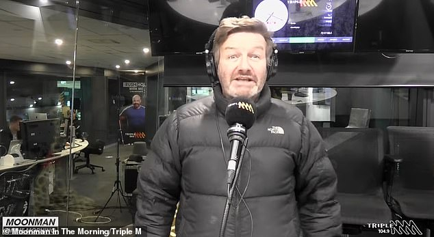 Odd night: Radio host Lawrence Mooney has recalled his very bizarre encounter with Russell Crowe at the Hollywood actor's luxury suite at Sydney's Crown Towers