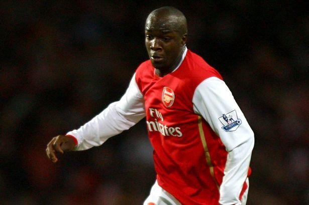 Lassana Diarra in action for Arsenal