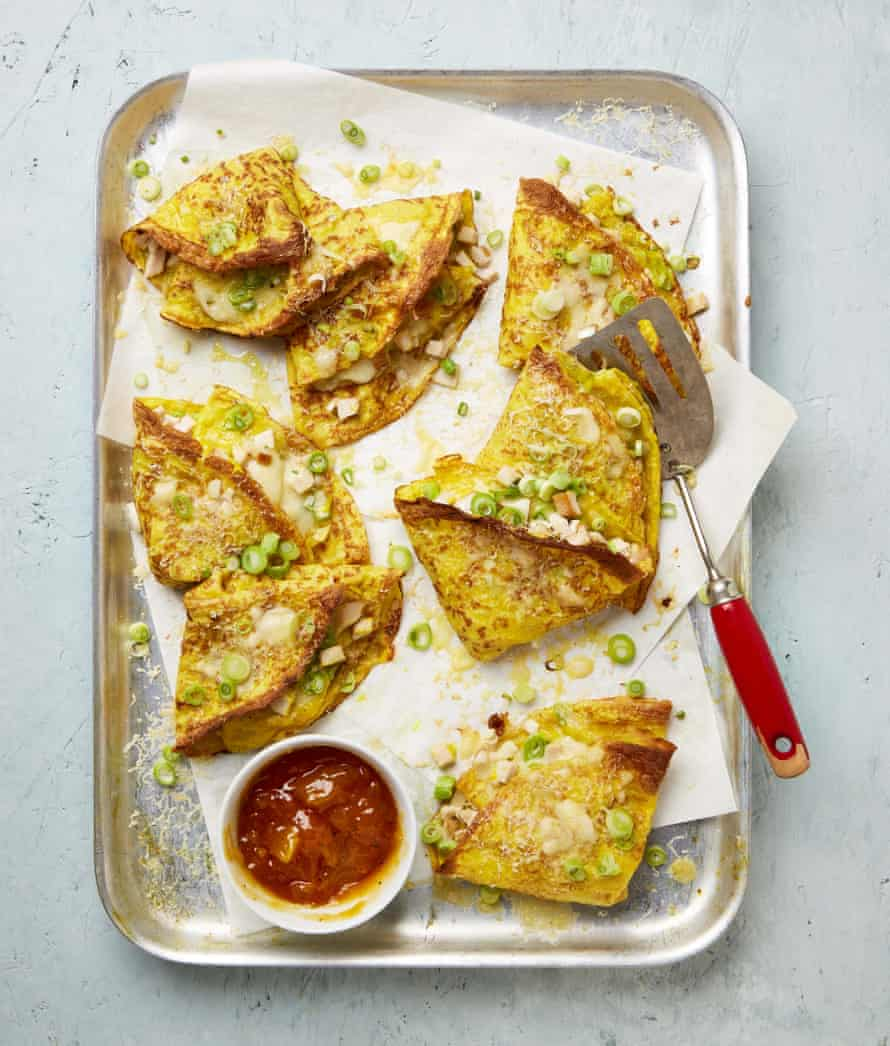 Yotam Ottolenghi's cheesy curry crepes.