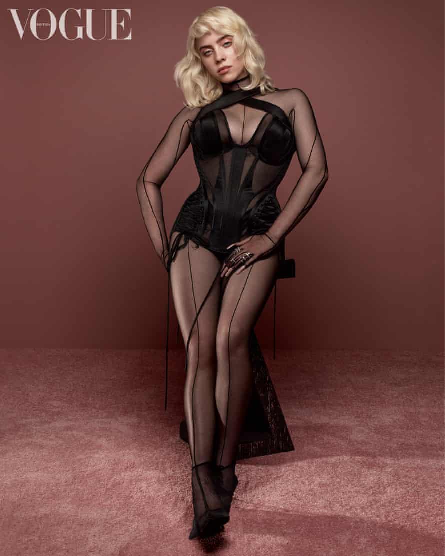 Billie Eilish photographed for British Vogue.