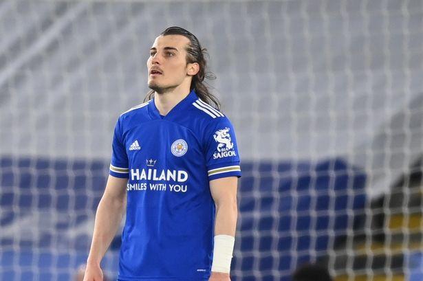 Caglar Soyuncu looks dejected after Newcastle United's Callum Wilson scored their third goal