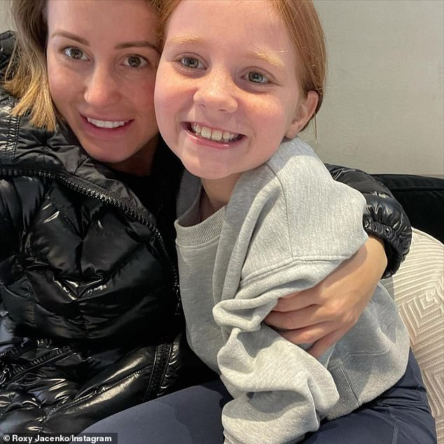 Like mother!Roxy Jacenko's daughter Pixie is certainly taking after her fashion-savvy mother. On Sunday, the 41-year-old PR Queen shared a photo of herself and Pixie Curtis, nine, heading out to a family dinner with matching handbags