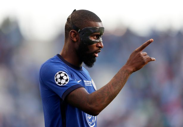 Antonio Rudiger played an important part in Chelsea's Champions League final win