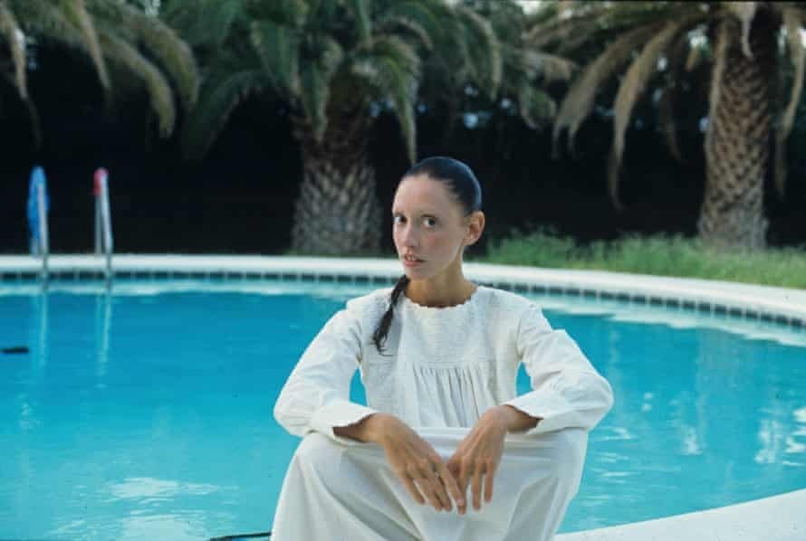 Shelley Duvall photographed by a pool