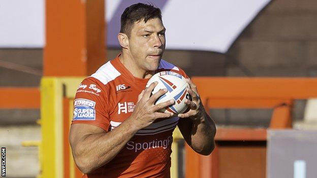 Ryan Hall in action for Hull KR