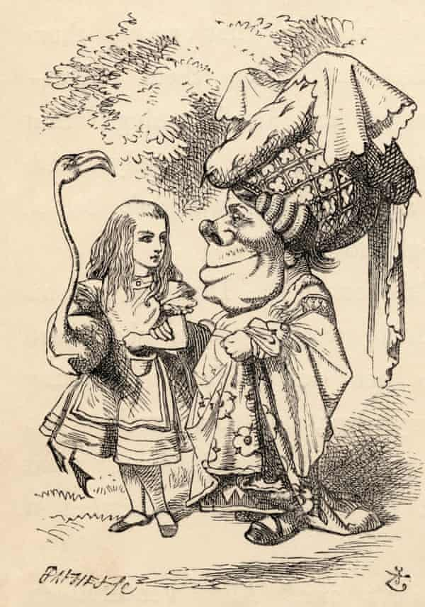 Inspired by Massys' Old Woman? Alice and the Duchess, one of John Tenniel's 1865 illustrations for Alice's Adventures in Wonderland