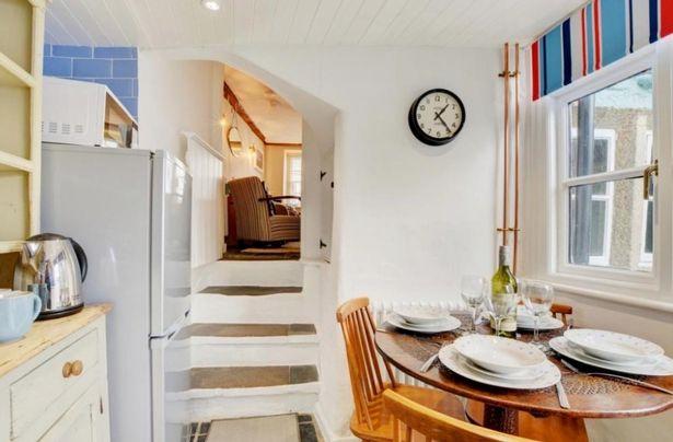 The narrow kitchen