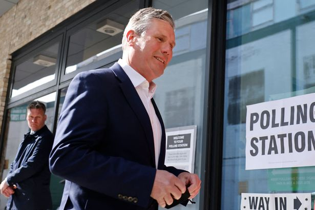 Keir Starmer casting his vote in yesterday's local elections