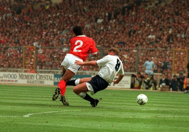 Gascoigne lunged in on Charles and suffered a major knee injury in the process