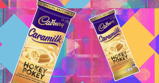 You can now buy honeycomb Caramilk bars credit: Cadbury's