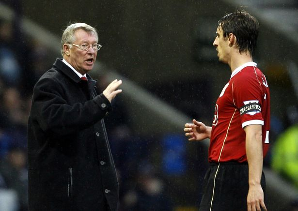 Gary Neville played under Sir Alex Ferguson for nearly 20 years