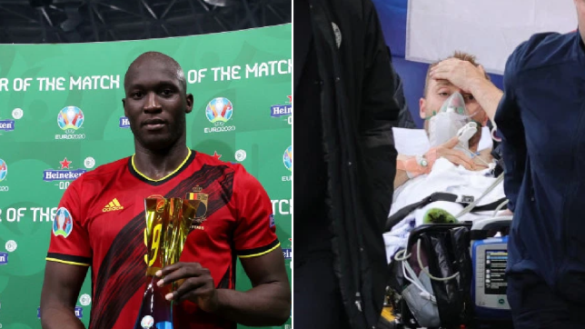 Romelu Lukaku admitted he 'cried a lot' after Christian Eriksen collapsed in Denmark's Euro 2020 clash