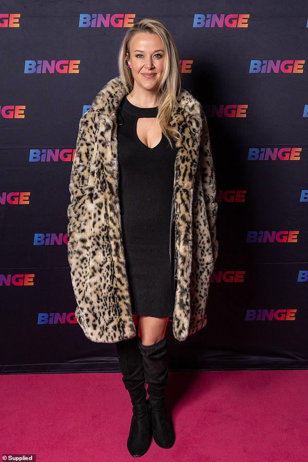 Red carpet ready: Also joining the couple on the red carpet wasradio producer and podcast host Jana Hocking whoteamed her fierce animal print coat with chic little black dress that featured a cheeky key hole detail above her cleavage