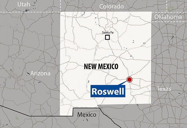 The flying saucer reportedly crashed in Roswell, New Mexico in July 1947