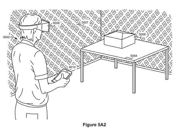Apple has long been rumoured to be developing its own pair of AR glasses. The tech giant filed a patent in 2019 (pictured above) that gives a glimpse into what it may be developing behind closed doors