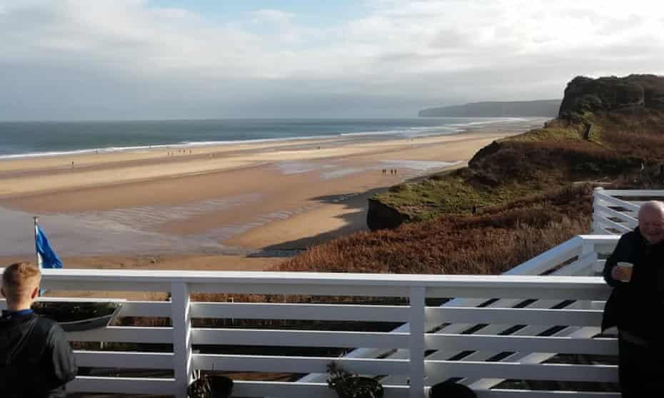 Beach view from the Cafe at Hunmanby Gap