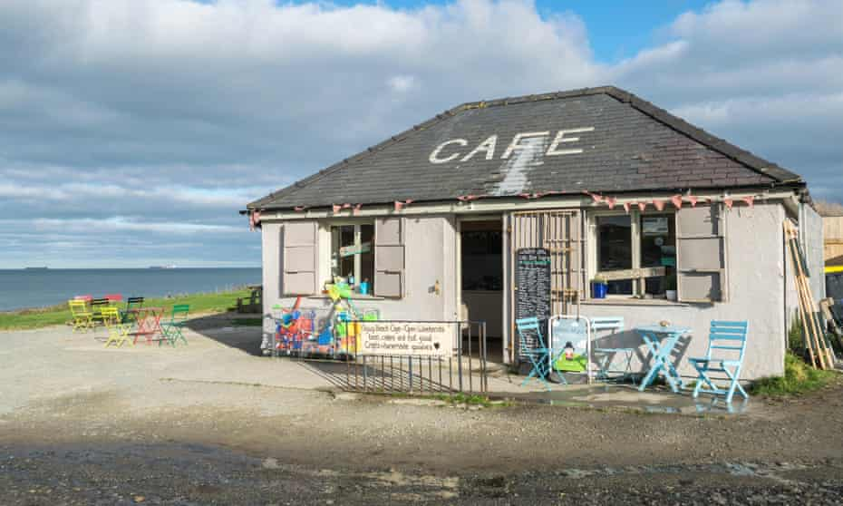 Lligwy Beach cafe and shop near Moelfre on Anglesey