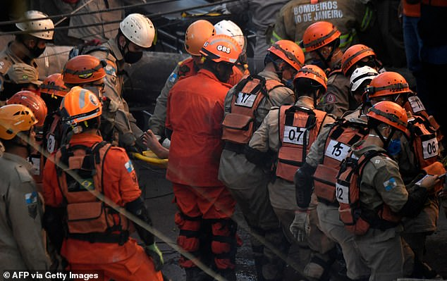The building that collapsed on Thursday was not approved by authorities, sources involved in the rescue said