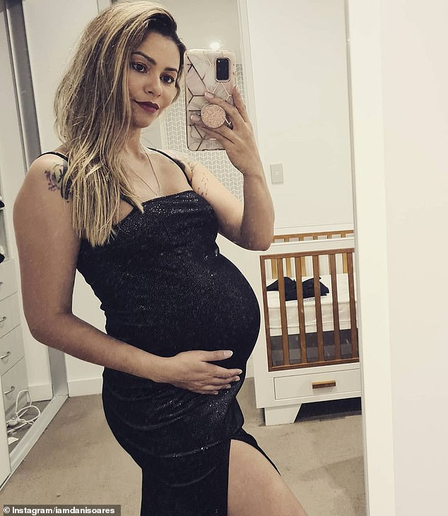 Soares showed off her baby bump in a social media post last month
