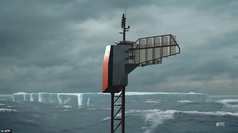 Even in adverse weather, Polar Pod will be supported by its ballast tanks. However, four sailors on-board will be tasked with navigating and deploying sails to avoid icebergs