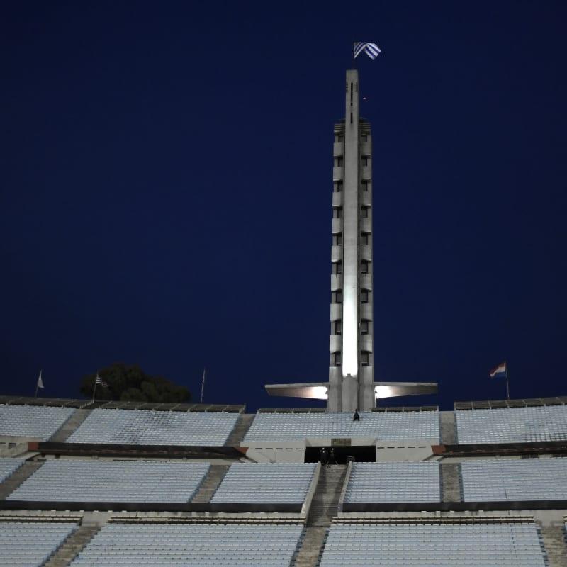 General view of the empty Centenario stadium